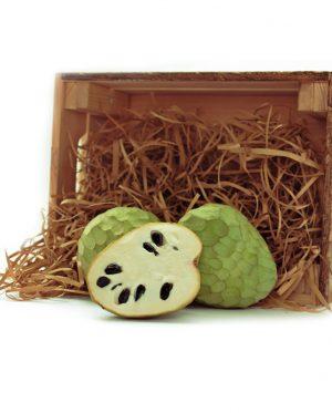 Caja de madera de 4kg de Chirimoya Fino de Jete de la Costa Tropical de Granada y Málaga