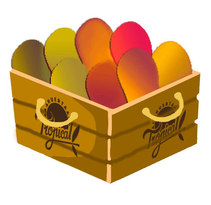 cesta de cuatro kilos de frutas tropicales