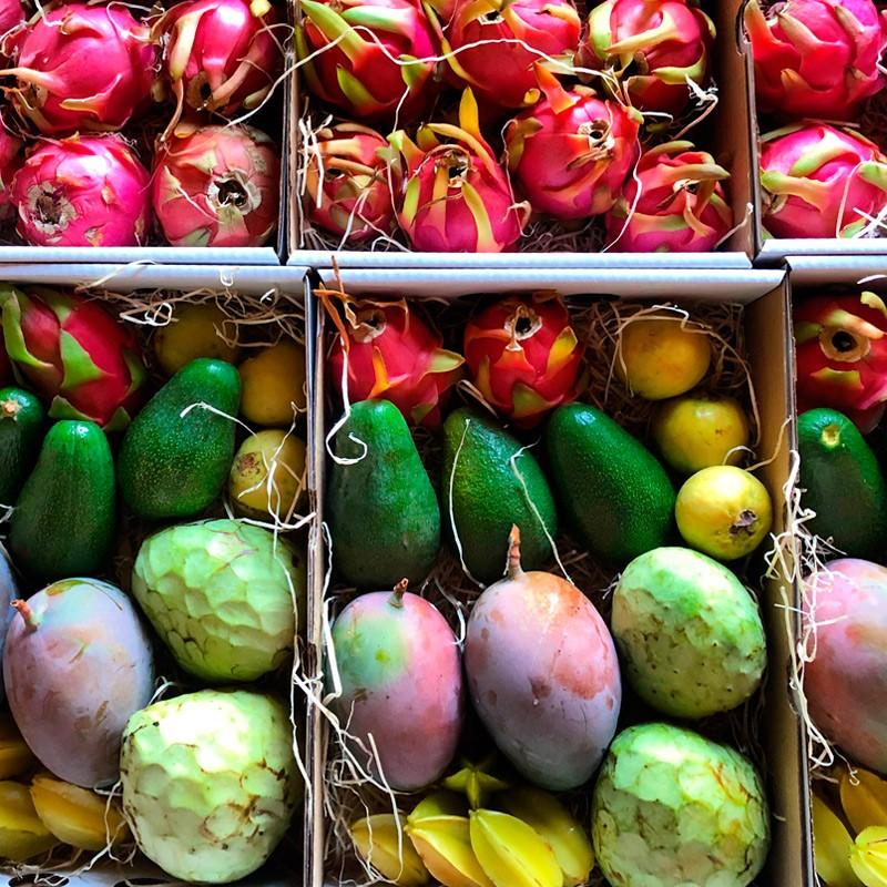 comprar surtido de frutas tropicales Axarquía