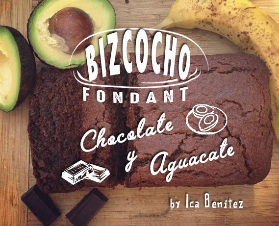 bizcocho fondant aguacate chocolate