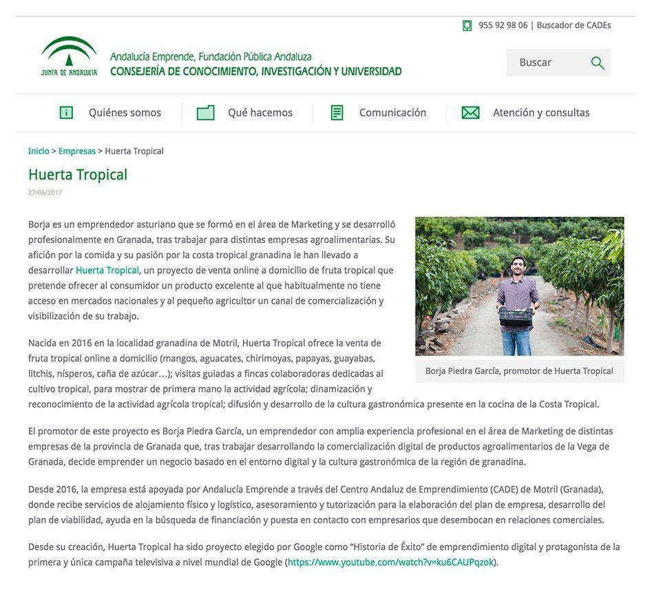 Empresa de la semana Andalucía Emprende