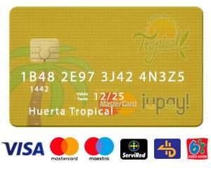 Comprar Fruta Tropical con Tarjetas de Débito o Crédito