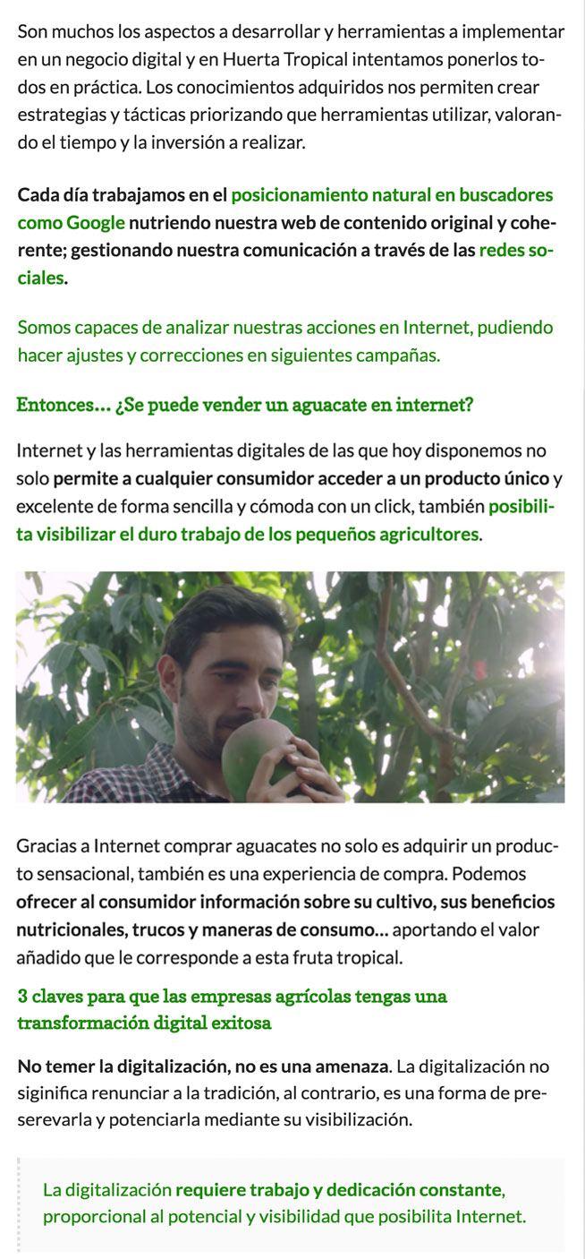 articulo en el Blog de La Huerta Digital