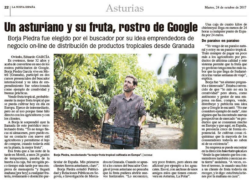 asturias la nueva españa huerta tropical media pagina