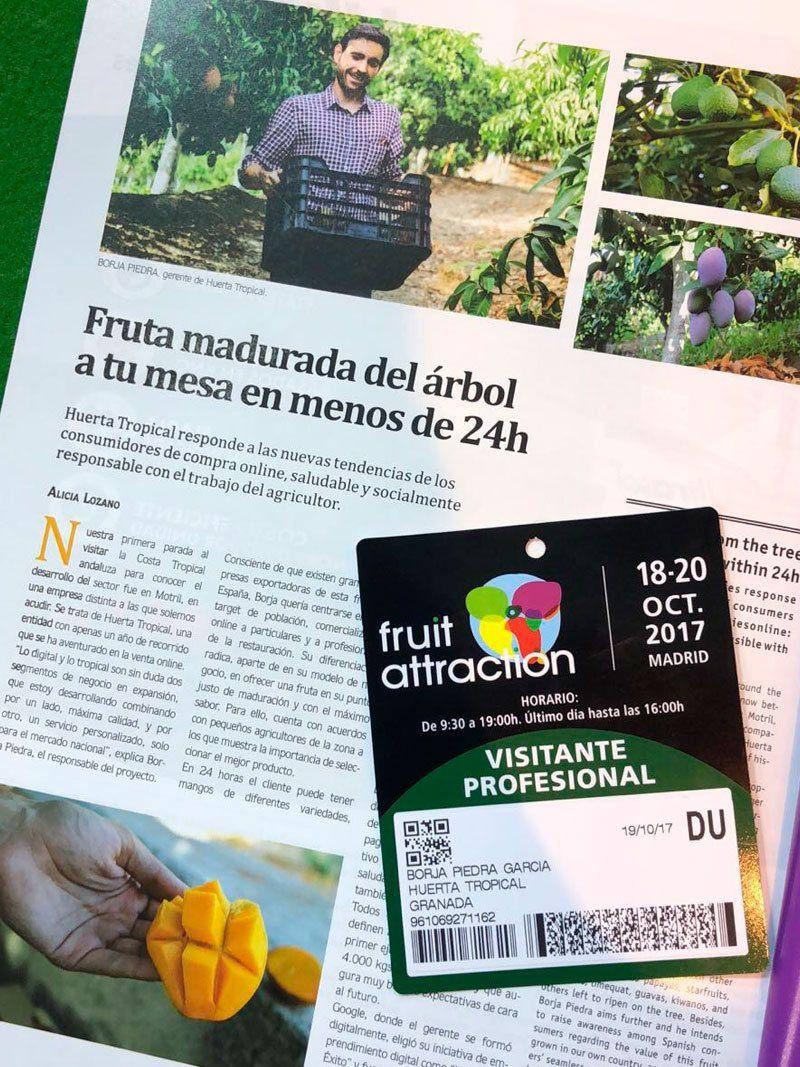 Revista Mercados Fruta madurada del árbol a tu mesa en menos de 24h