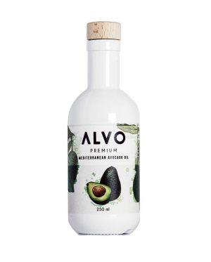 botella de aceite de aguacate virgen extra alvo