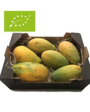 comprar caja de papayas ecológicas bio a domicilio