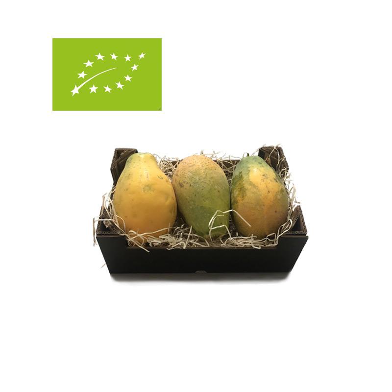 comprar caja de 2kg de papayas ecológicas bio